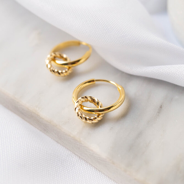 KLIMBIM-crown hoop earrings